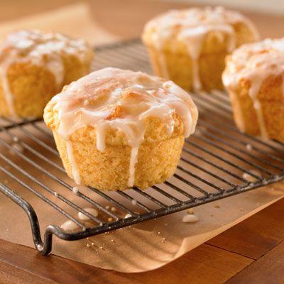 Almond Peach Yogurt Muffins from Land O'Lakes