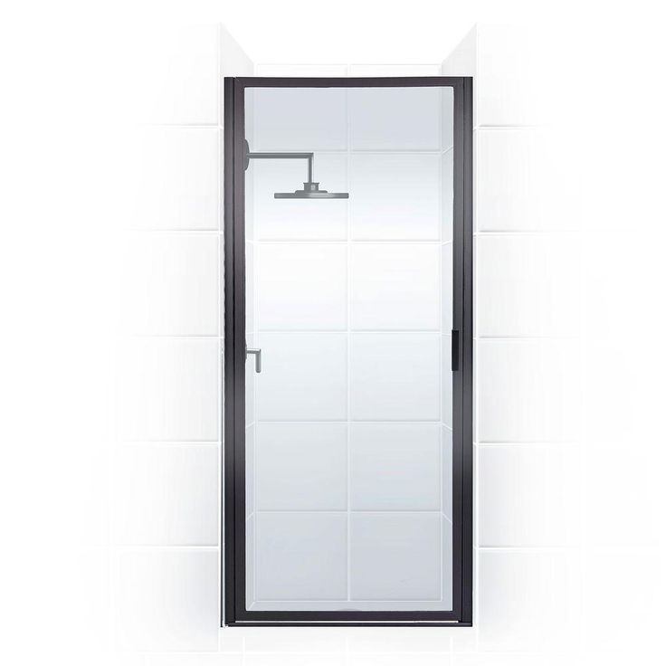 Coastal Shower Doors Paragon Series 36 in. x 69 in. Framed Continuous Hinge Shower Door in Oil Rubbed Bronze and Clear Glass-P36.70ORB-C - The Home Depot