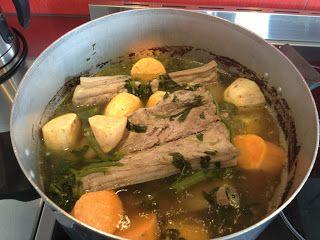 Maori Kai - Pork Bones and Watercress Boil Up