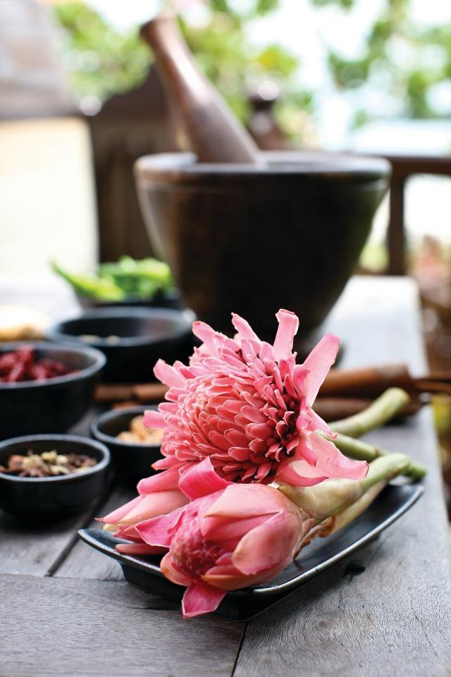 A touch of ginger flower adds the perfect perfume to a Malaysian dish at @Four Seasons Resort Langkawi, Malaysia.
