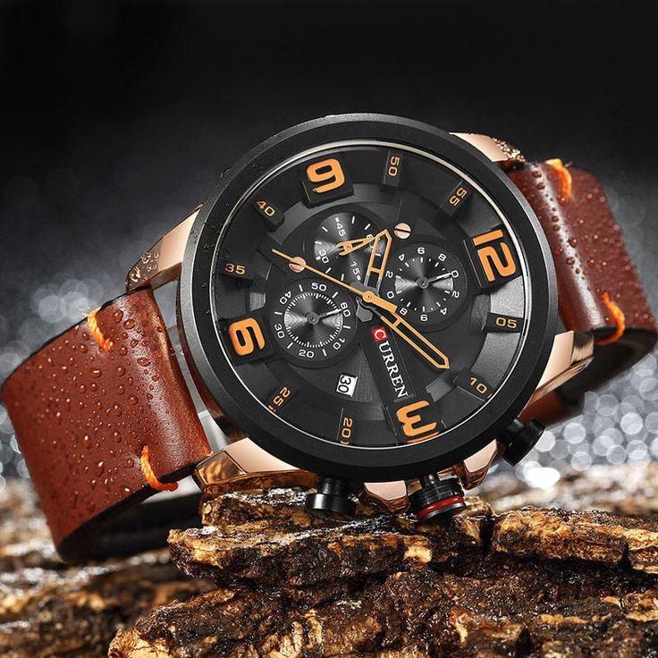 CURREN 8288 Chronograph Calendar Quartz Wrist Watch at Banggood