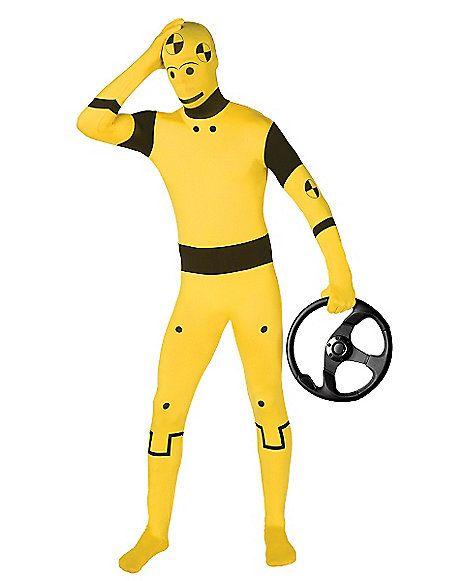 Super Skins® Crash Test Dummy Suit Adult Costume - Spirithalloween.com