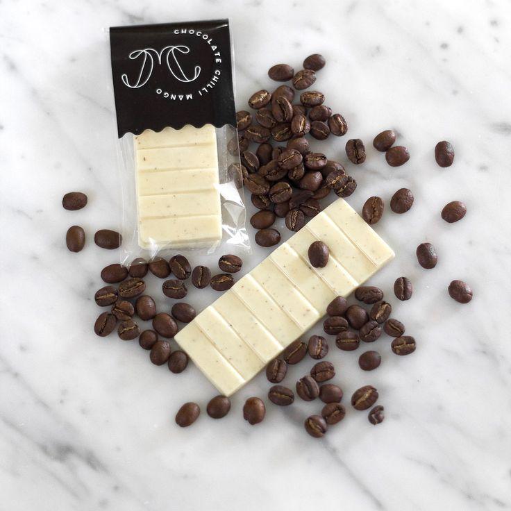 Caffè Latte snacking tablette  |  Chocolate Chilli Mango  #coffee #infusion #gridlockcoffeeroasters #Valrhona #Opalys #chocolatechillimango #chocolate #tablette