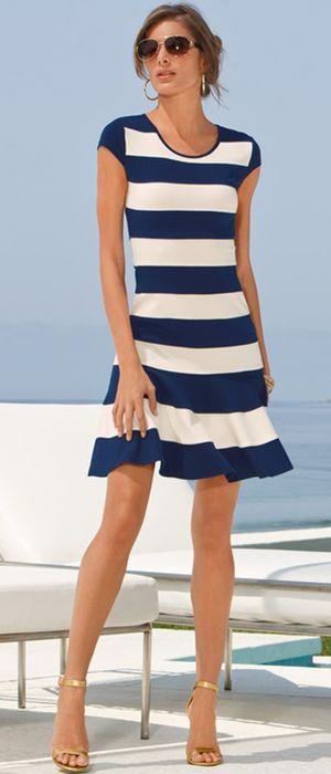 Ponte banded dress