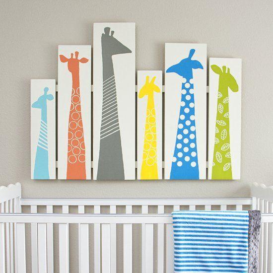DIY Giraffe Wall Art