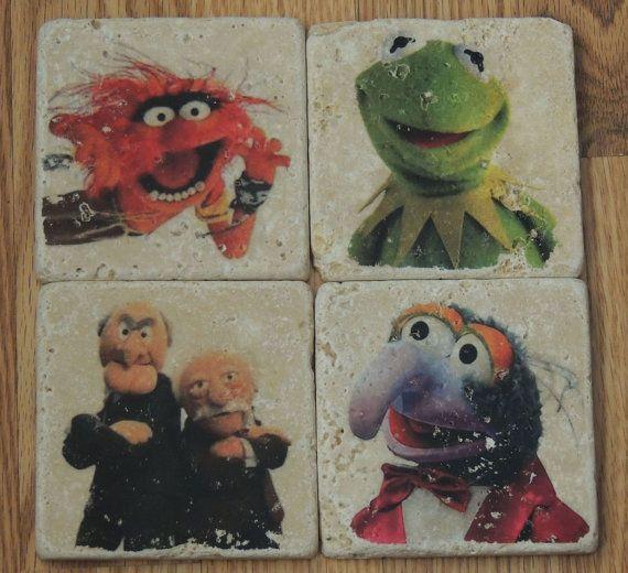 Vintage Disney Muppets Tumbled Marble Tile by ArtCFartCStudios, $32.00