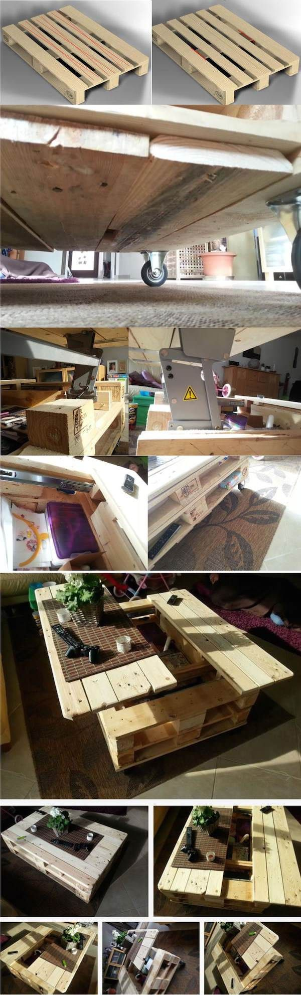 Wood pallet coffee table do you assume wood pallet coffee table - Modular Pallet Coffee Table With Storage Pallet Ideas 1001 Palletswooden
