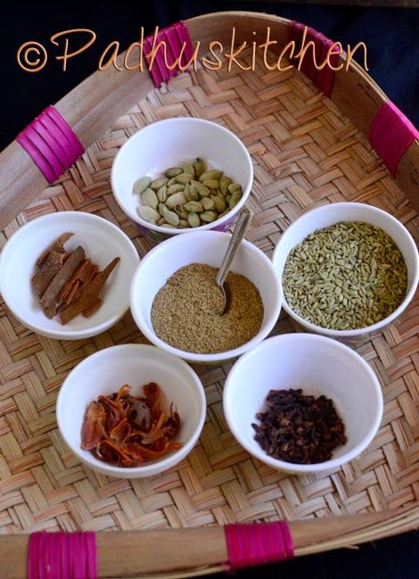 Padhuskitchen: Garam Masala Powder Recipe-Kerala Style
