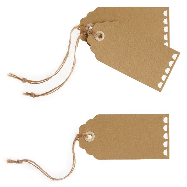a vintage affair party brown luggage tags £2.49 10pk