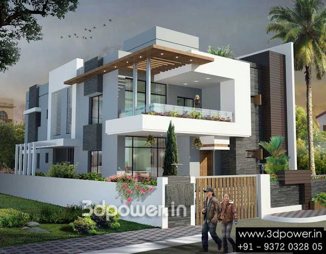 Ultra modern home designs building elevation modern - 3d home exterior design tool download ...