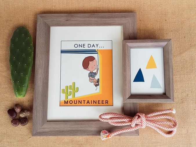 One Day Kids Prints - Mountaineer (www.chloeandgeorge.com.au)