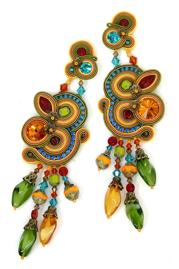 earrings : Tangerine