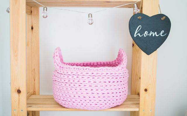 Basket is crocheted with 10mm pink cotton cord. Perfectly for storing toys, clothes, yarns, and other things of everyday life.    Height: about 20cm Diameter at the top: about 30 cm  Diameter at the bottom: about 30 cm  Washable at 30 degrees   HOW IT'S MADE?  I create all the things with love and passion. I make unique home decor products, friendly to environment. I am passionate about natural materials and nature! My products will give your home a personality.