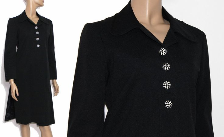 Vintage 1970s Coat Black Trench Coat Jacket  Mad Man Garden Party Rockabilly Retro Femme Fatale Mad Man Polyester Rhinestones by ByMidnightSparkle on Etsy https://www.etsy.com/listing/106101227/vintage-1970s-coat-black-trench-coat