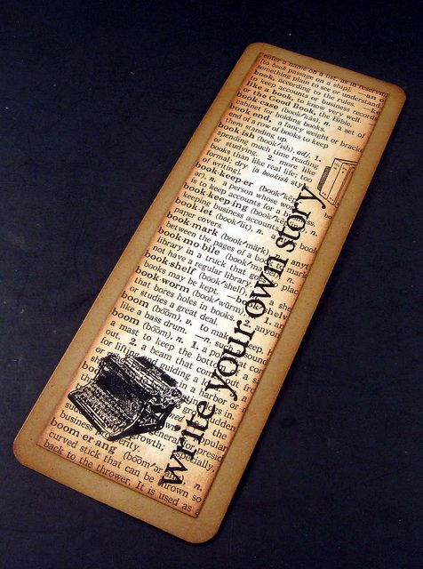 Handmade Bookmarks by As Always Angela, May try some of these with my ruined books in the library.