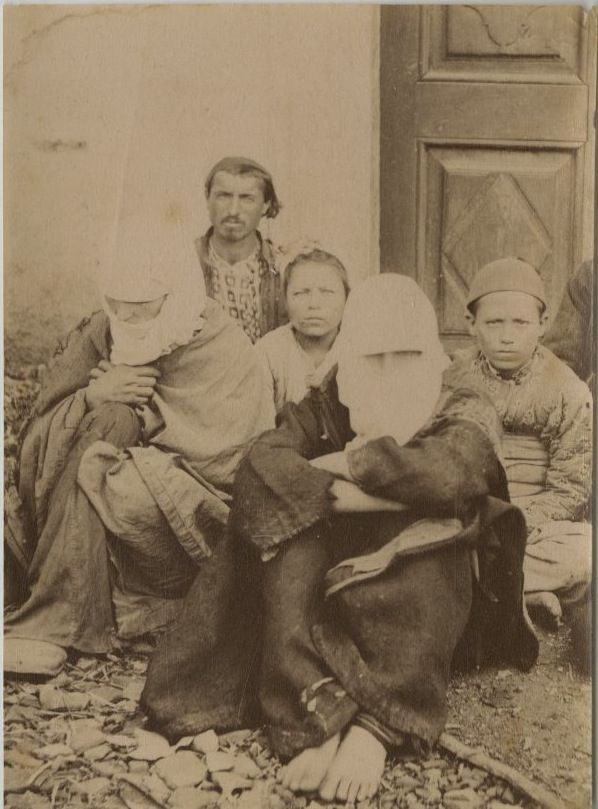 Turkish family from Ottoman Empire, 1875s.