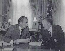 George Romney with President Nixon - as Cabinet Secretary of HUD