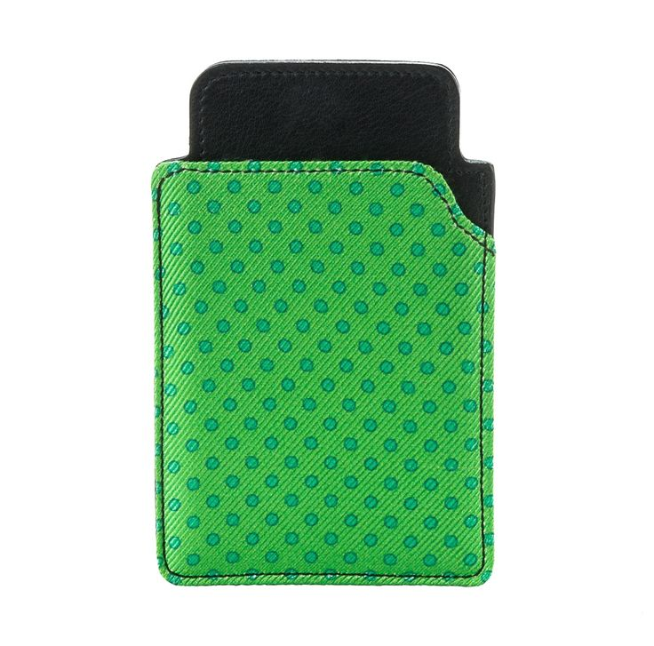 IPHONE CASE Fluo Green with Green Polka Dots by EMME. Shop this Stylish acessory HERE > http://finaest.com/designers/emme |#emme #emmesilk #finaest #iphonecase #portaiphone #style #pitti #menswear #accessories