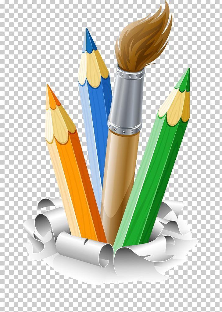 Pencil Brush Drawing PNG art, brush, clip art, colored