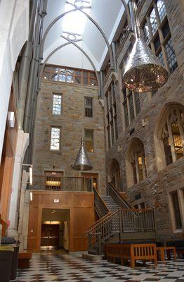 The Powers Atrium at Boston College
