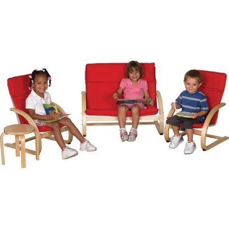 Comfort Chairs 4pc Seating Group, Red, Box 1 of 2