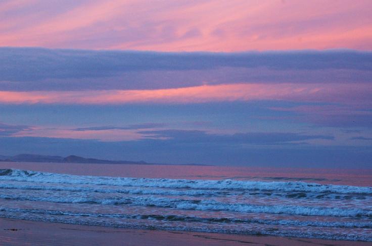Long beach evening. New Zealand