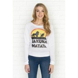 White Hakuna Matata graphic sweatshirt