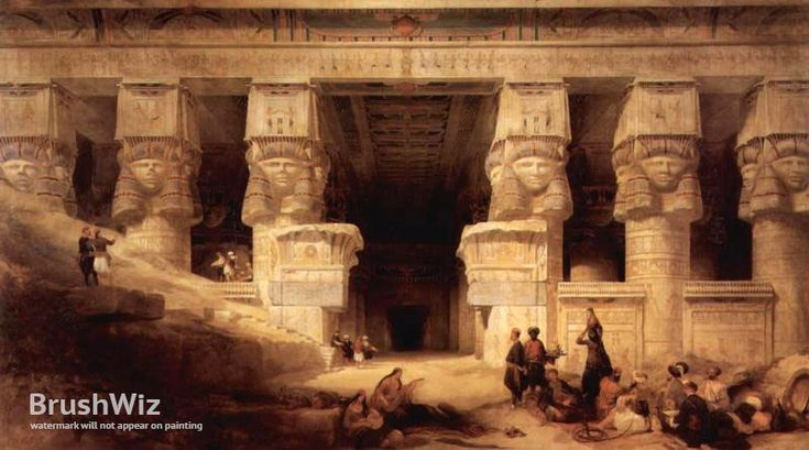 The Temple Is Dendera by David Roberts - Oil Painting Reproduction - BrushWiz.com