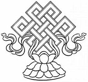 Notes: The Pan Chang knot (also known as the Endless knot or the Mystic knot) is one of the eight buddhist treasures. It represents the endless cycle of life, the infinite wisdom of Buddha, the duality (yin and yang) of existence, and is also a symbol of balance and harmony.
