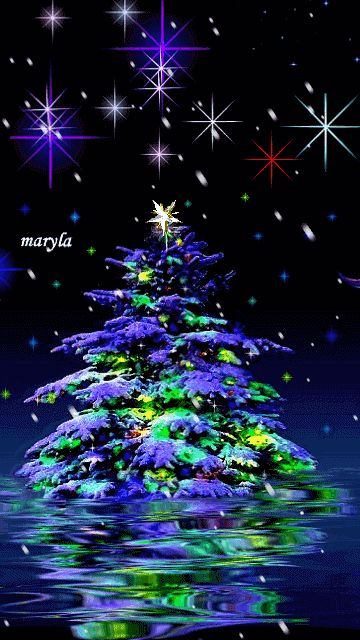 Download Animated 360x640 «christmas tree» Cell Phone Wallpaper. Category: Holidays