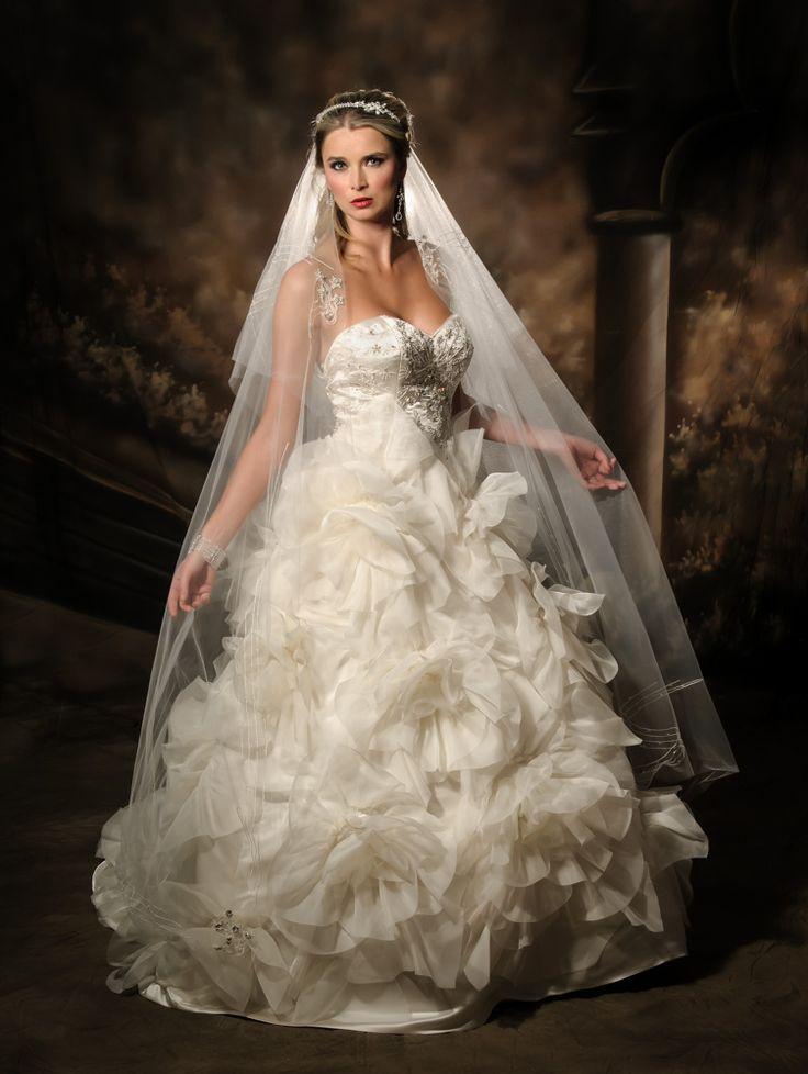 Full ball gown wedding dress
