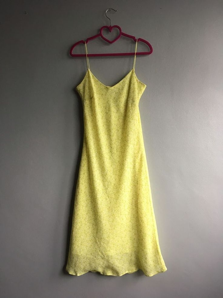 BRIGHT YELLOW FLORAL DRESS YESSICA VINTAGE 90's GRUNGE 10-12