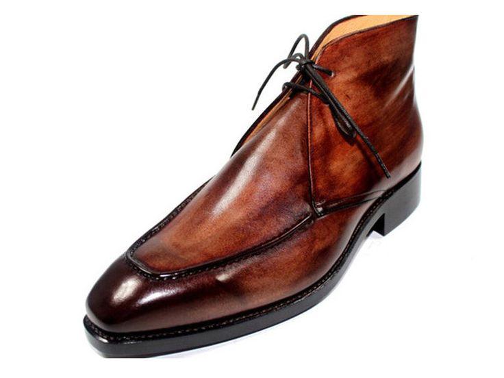 Chaussures Moine-bracelet En Cuir Poli - Santoni Brun Foncé DCrovK4OUQ