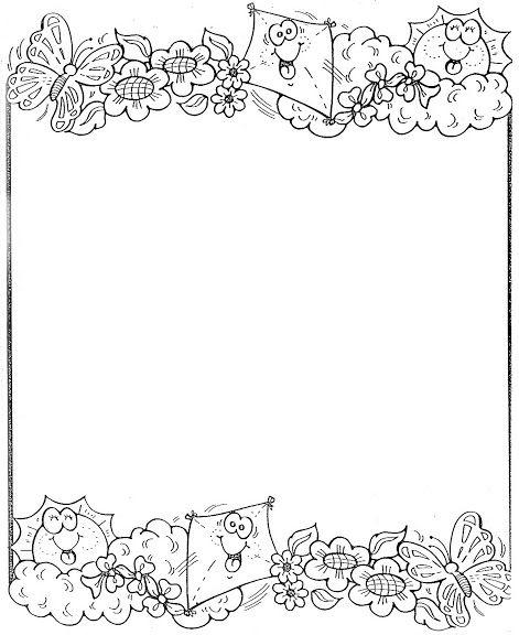 Dibujos De Bordes Para Pintar Y Colorear Dibujo De Marco