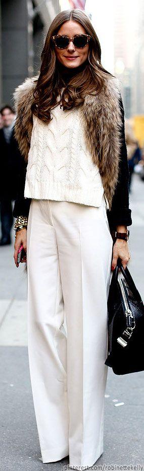 Topshop Knitted Colour Block Jumper & Emporio Armani pants, Givenchy Antigona Crocodile-Embossed Duffle Bag