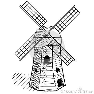 how to draw a windmill - Google Search