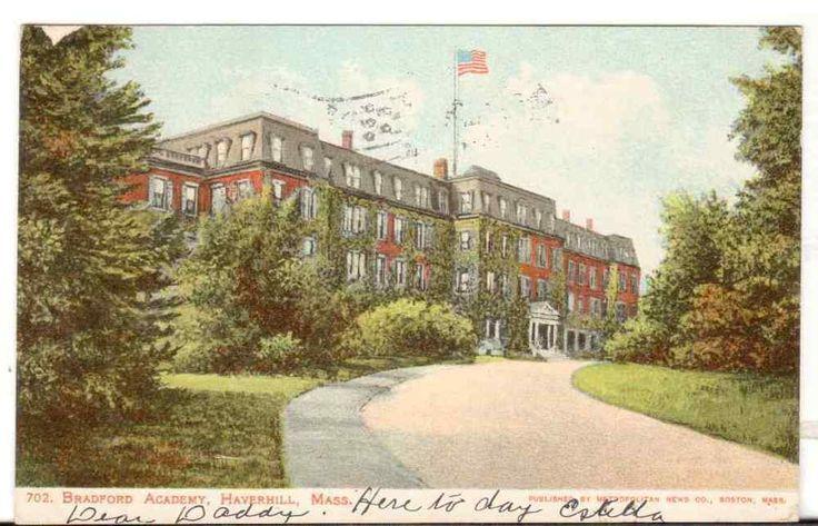 1906 Postmarked Postcard Bradford Academy Haverhill Massachusetts MA Mass