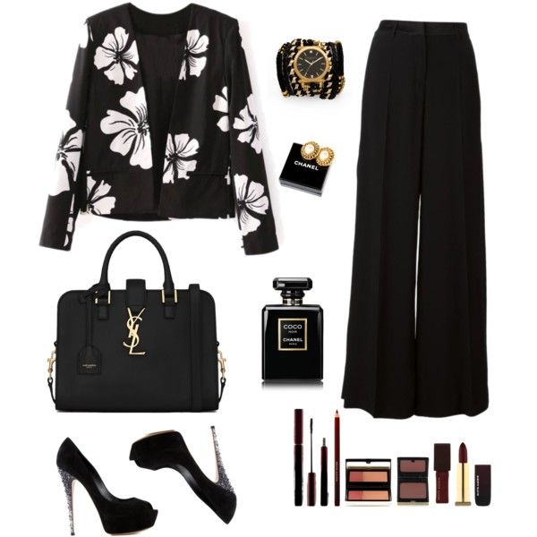 Sans titre #11 by muslimco on Polyvore featuring polyvore, mode, style, Roberto Cavalli, Casadei, Yves Saint Laurent, Sara Designs, Chanel and Kevyn Aucoin