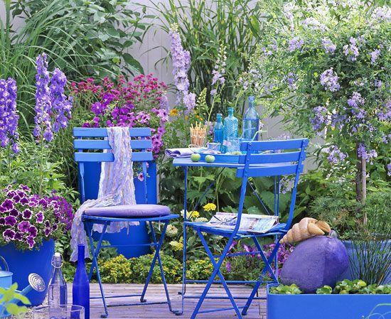 Un jardin bleu (Scènes de jardins)