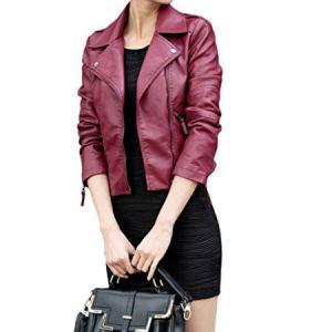 chaqueta-cuero--mujer-con-solapa morada