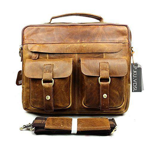 P.KU.VDSL® - Vintage Mallette / Pour Homme en Cuir Véritable sac d'ordinateur portable sac de messager / sac à dos / porte-documents 34 x 9 x 28 cm, http://www.amazon.fr/dp/B00O8BFUGQ/ref=cm_sw_r_pi_awdl_iyaEwb0R79QCE