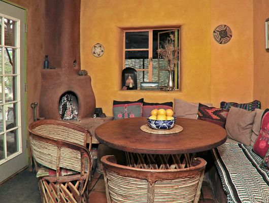 main house dining area built from cob strawbale adobe clay plaster by - Gnome House S Design