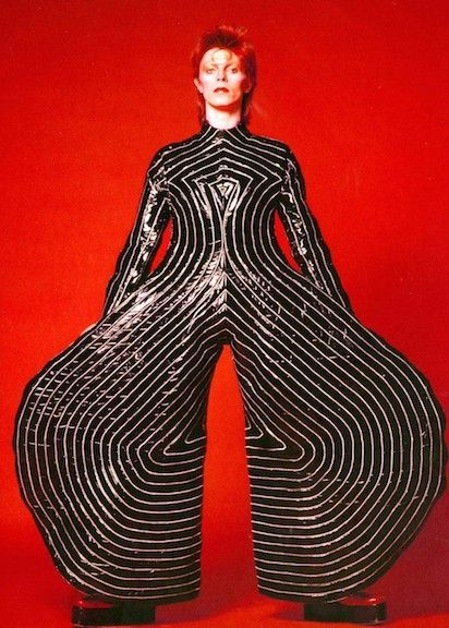 While Bowie never actually lived in Japan, it's not hard to see how much of an influence Japanese culture has bore on him and his work. For instance, Bowie's kabuki-inspired costumes for his 1973 Aladdin Sade tour, designed by Japanese contemporary avant garde designer Kansai Yamamoto, borrowed extensively from the hikinuki concept of rapid costume changes on stage.