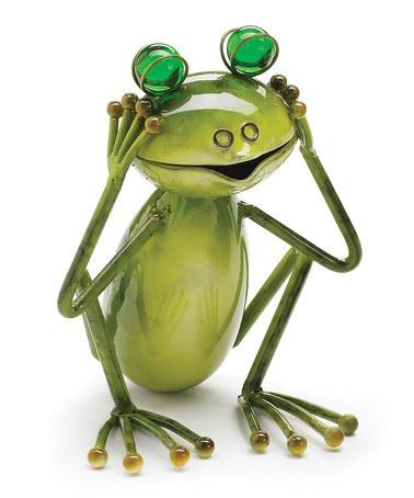 Green Hear No Evil Frog Figurine by burton