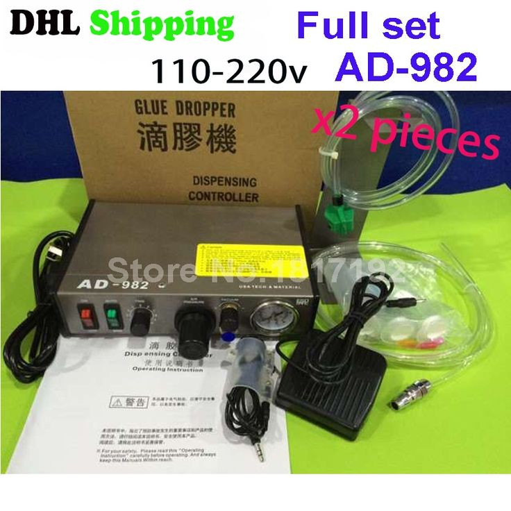 122.00$  Watch here - http://ali55a.worldwells.pw/go.php?t=32724925661 - Fastshipping DHL 2ps Hot Sell 220V AD-982 Semi-Auto Glue Dispenser PCB Solder Paste Liquid Controller Dropper Fluid dispenser 122.00$