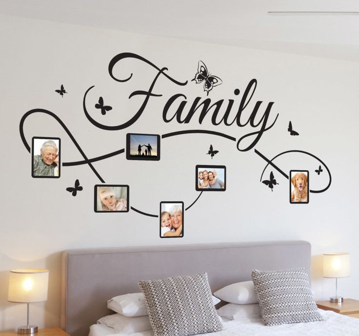 Sticker family familie tekst foto´s