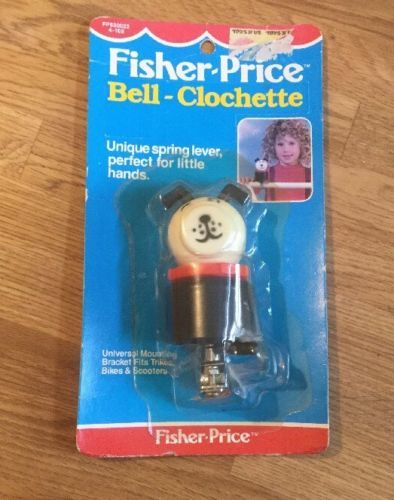 Vintage-Fisher-Price-Little-People-Bell-Clochette-Cycle-Bike-Bell-1988-Rare-Seal