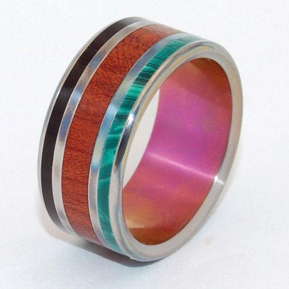 Schwarze Ringe, Hochzeit, Ringe, Titanringe, Holz Ringe, Herren-Ringe, Eheringe Titan, Eco-Friendly Trauringe, Stein Ringe - NARRA