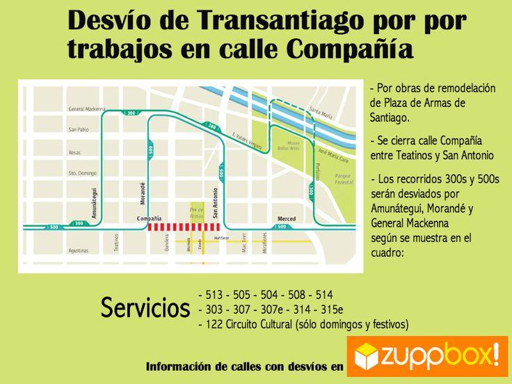 Desvío de Transantiago por Remodelación en Plaza de Armas de Santiago