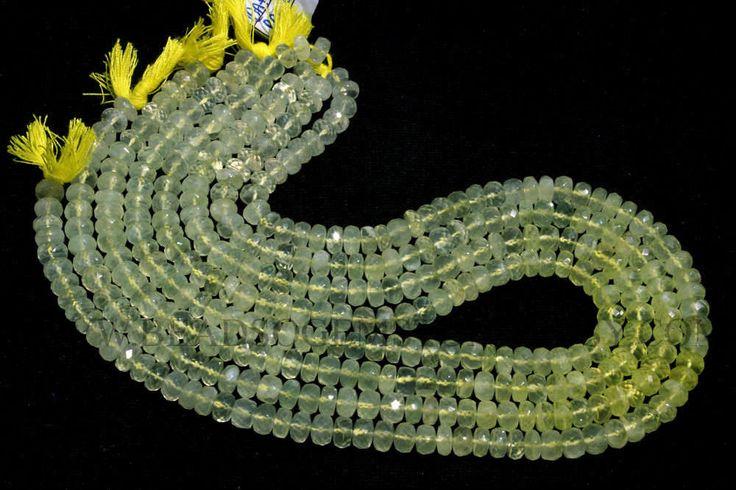 Semiprecious Stone, Multi Prehnite Faceted Roundel (Quality AA+) / 6 to 6.5 mm / 36 cm / PRE-010 by beadsogemstone on Etsy #multibeads #prehnitebeads #rondellebeads #gemstonebeads #semipreciousstones #semipreciousbeads #briolettes #jewelrymaking #craftsupplies #beadsofgemstone #stones #beads